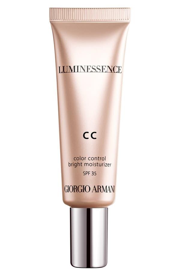 Main Image - Giorgio Armani 'Luminessence CC' Color Control Bright Moisturizer SPF 35