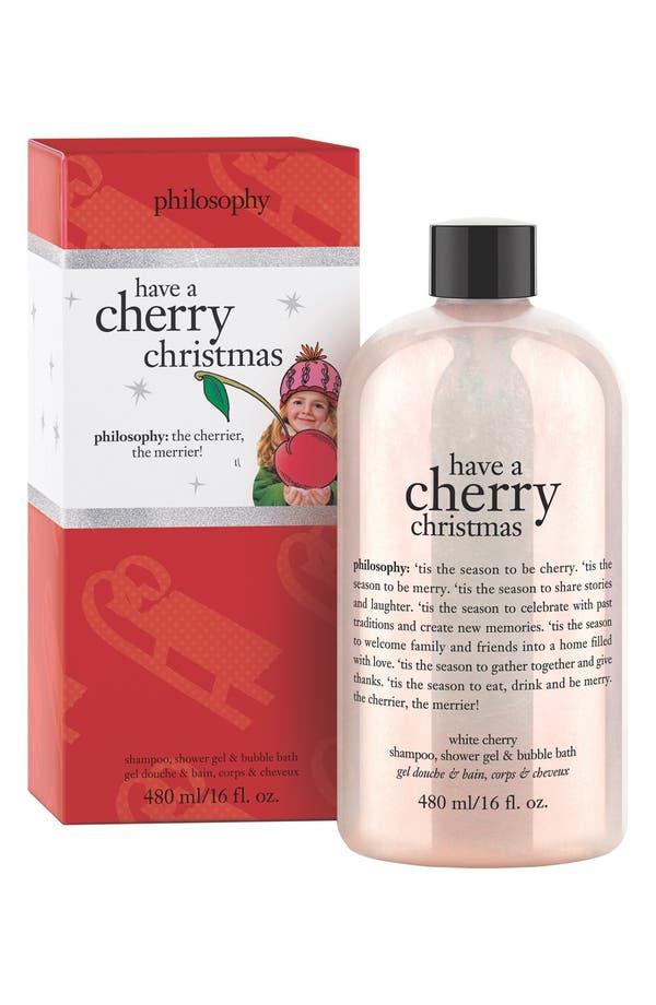Main Image - philosophy 'cherry christmas' shampoo, shower gel & bubble bath (Limited Edition)
