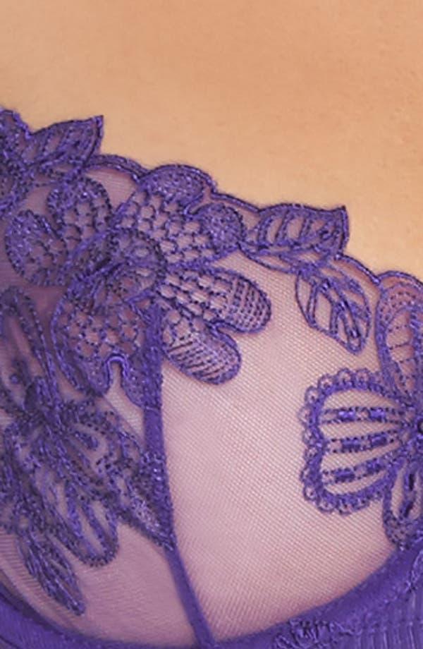 English Rose Underwire Balconette Bra,                             Alternate thumbnail 9, color,                             Violet