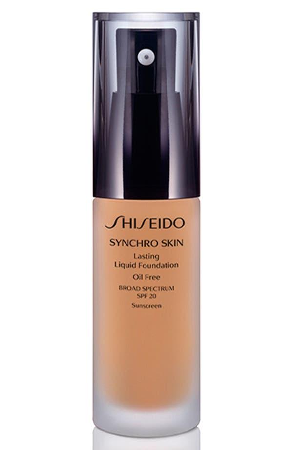 Main Image - Shiseido 'Synchro Skin' Lasting Liquid Foundation Broad Spectrum SPF 20