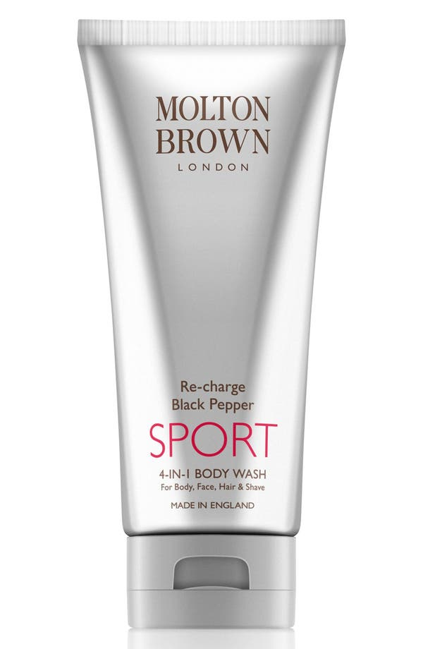 Re-charge Black Pepper Sport 4-in-1 Body Wash,                             Main thumbnail 1, color,                             No Color
