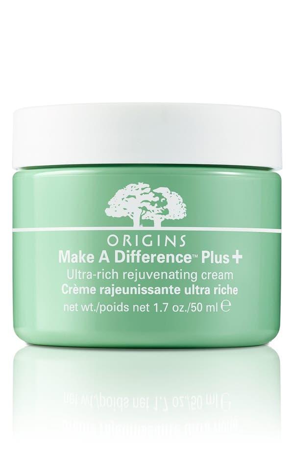 Main Image - Origins Make A Difference™ Plus+ Ultra-Rich Rejuvenating Cream