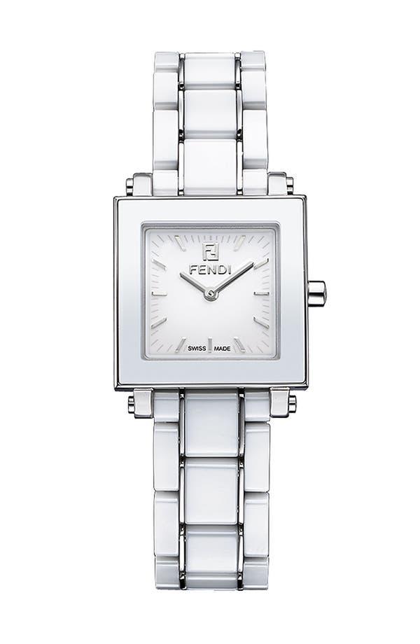 Main Image - Fendi Ceramic Square Case Watch, 25mm