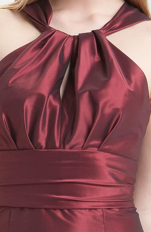 Alternate Image 3  - Amsale Trumpet Skirt Taffeta Halter Gown
