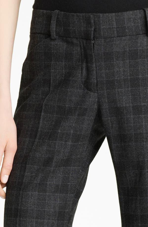 Alternate Image 3  - Oscar de la Renta Plaid Flannel Trousers
