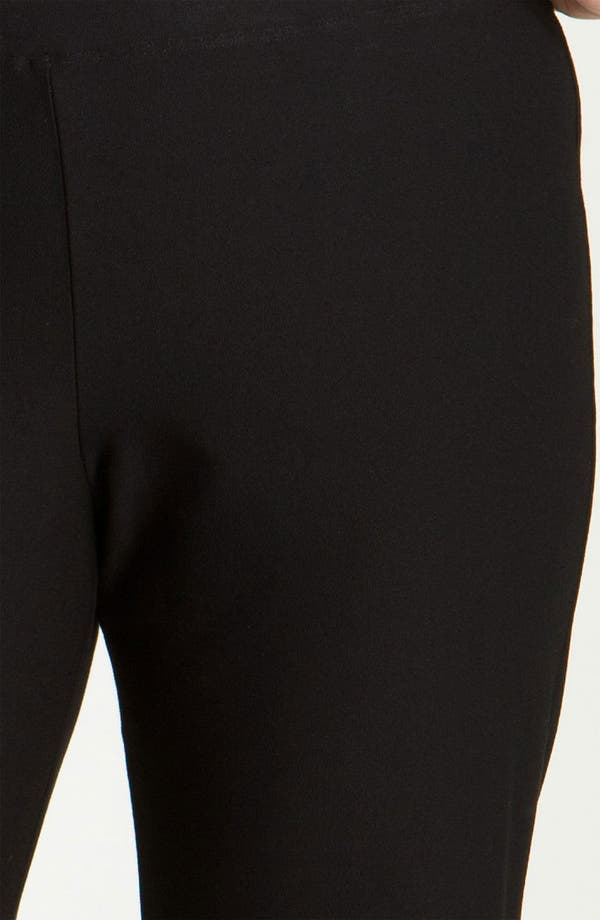 Crepe Ankle Pants,                             Alternate thumbnail 4, color,                             Black