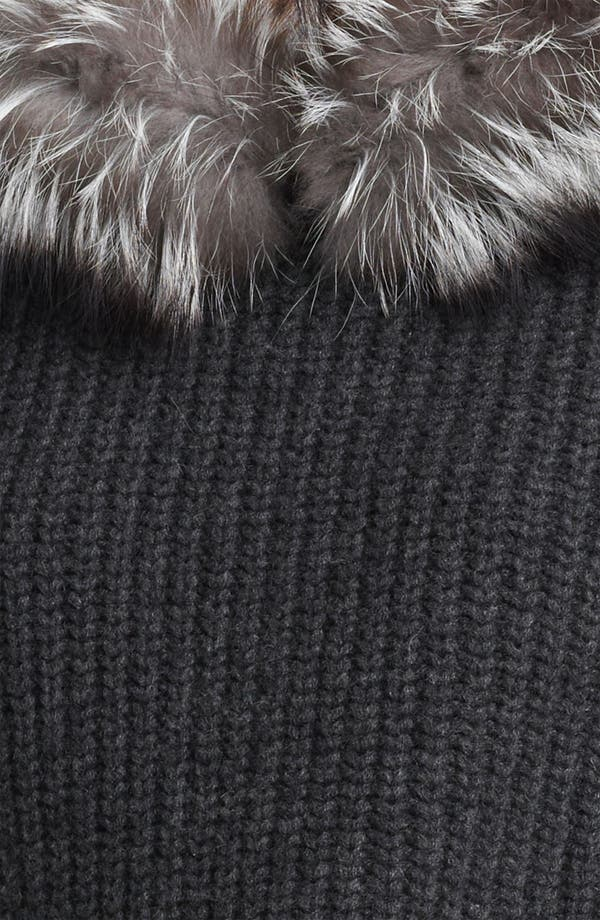 Alternate Image 3  - Michael Kors Genuine Fox Fur Trim Hooded Sweater