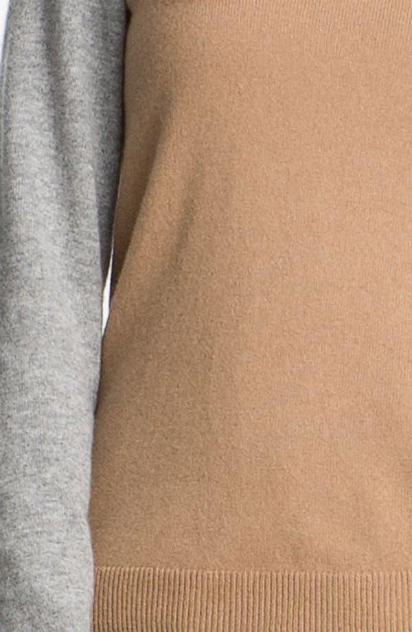 Alternate Image 3  - BOSS Black Colorblock Cashmere Sweater