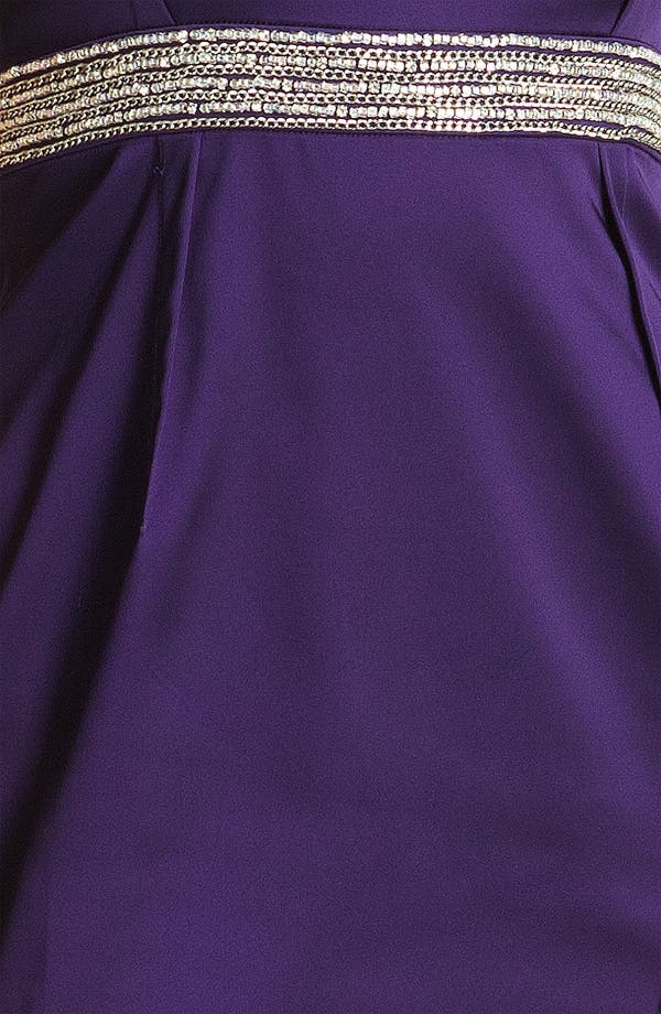 Alternate Image 3  - Calvin Klein Embellished Trim Satin Sheath Dress