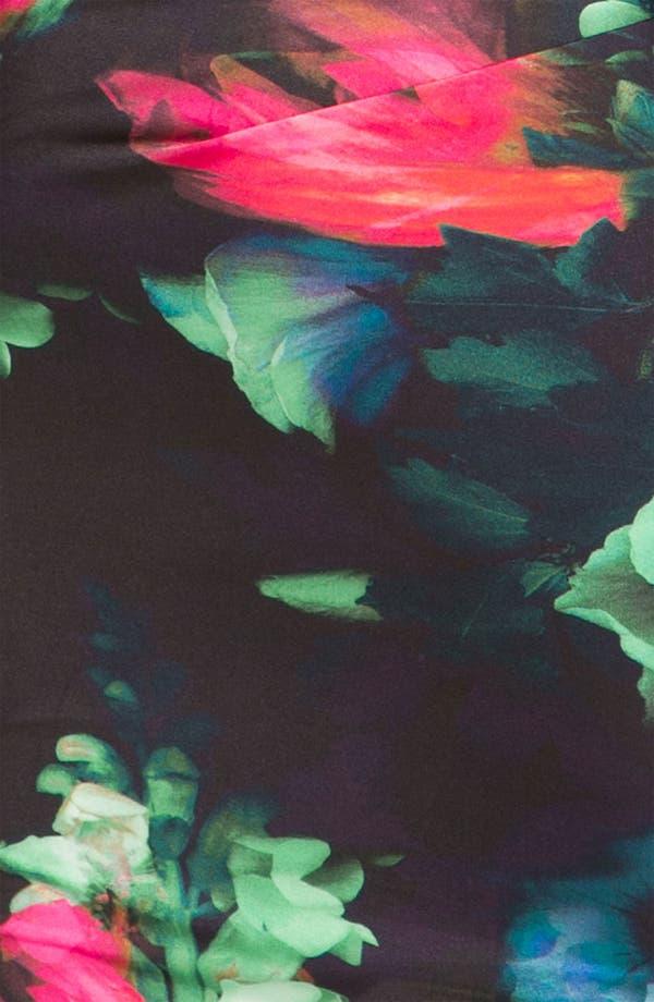 Alternate Image 3  - Black Halo Floral Jersey Dress