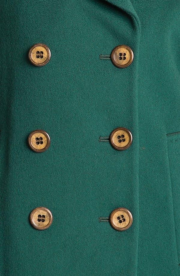 Alternate Image 3  - Fleurette Double Breasted Loro Piana Wool Peacoat (Online Exclusive)