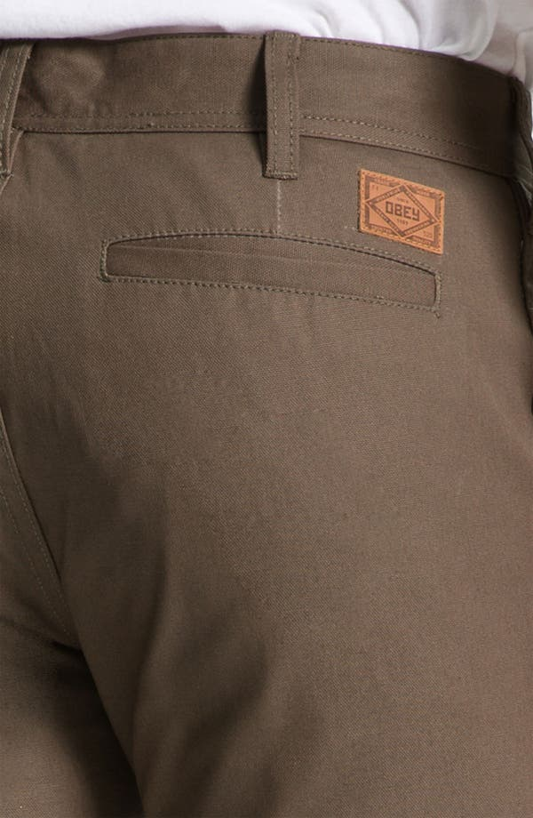 Alternate Image 3  - Obey 'Trademark' Wax Coated Chinos