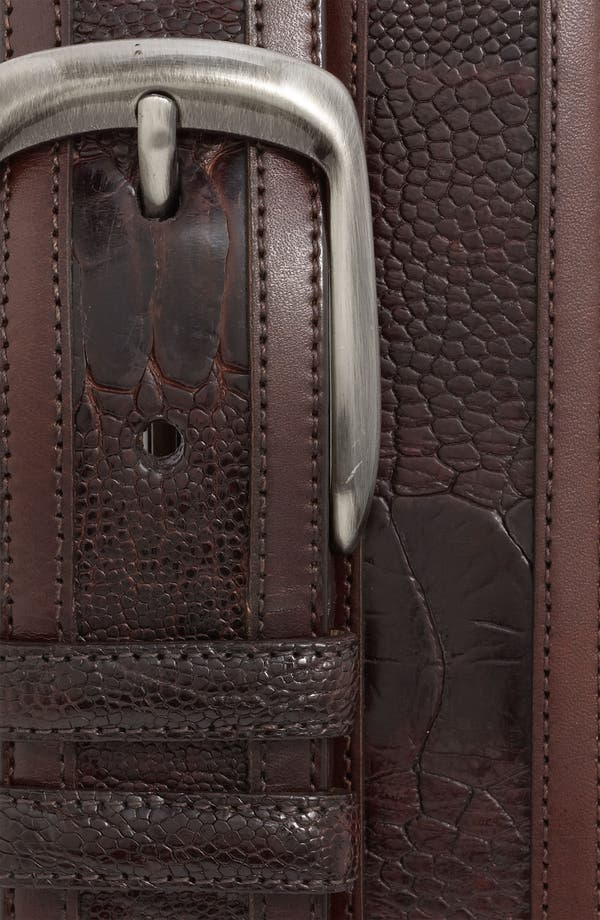 Alternate Image 2  - Mezlan Ostrich Belt