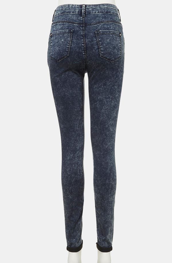 Alternate Image 3  - Topshop 'Leigh' Maternity Acid Wash Skinny Jeans