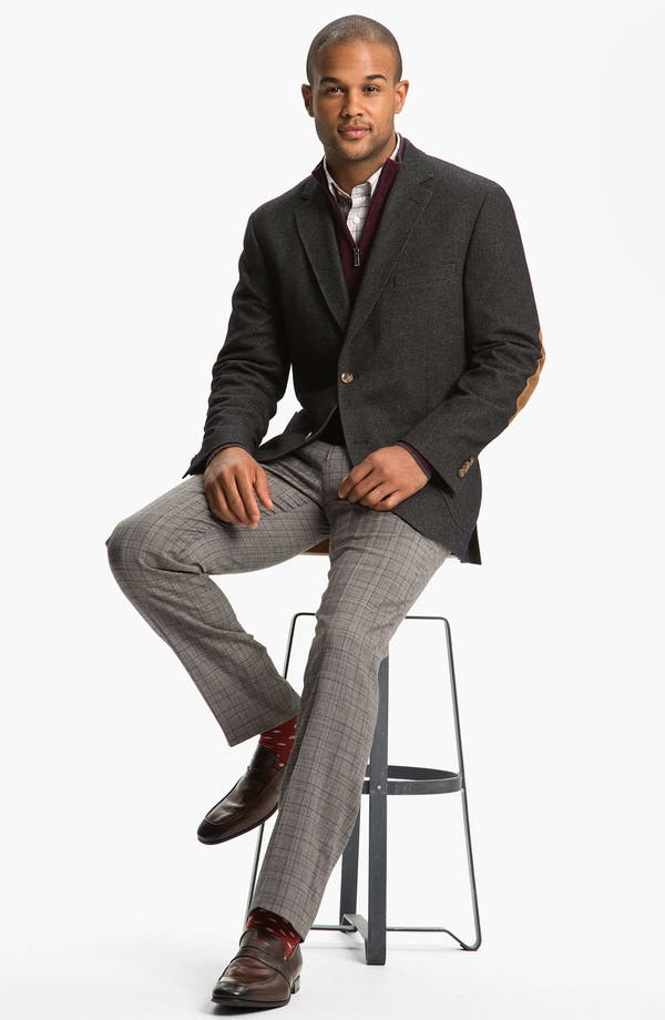Alternate Image 4  - Peter Millar Flat Front Wool Trousers