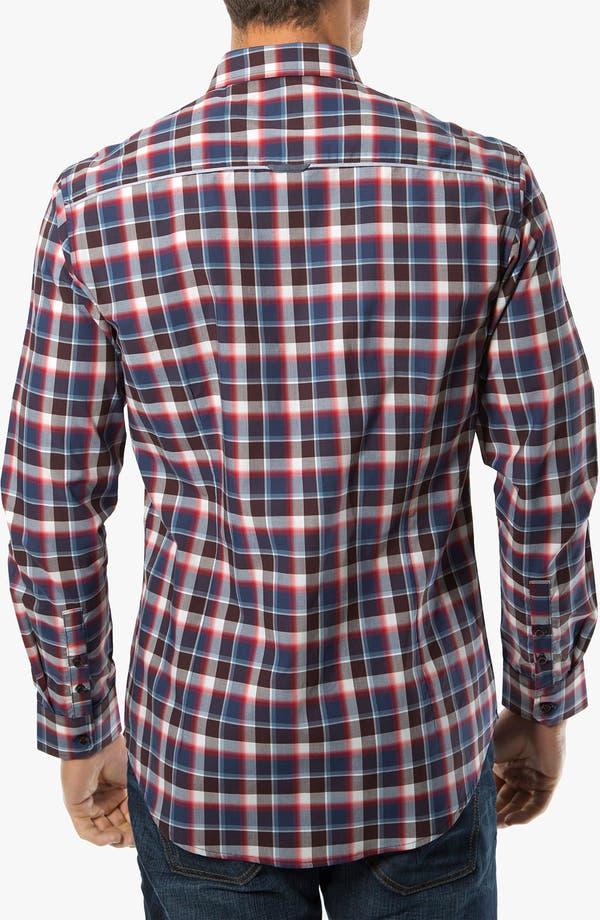 Alternate Image 2  - 7 Diamonds 'The Ride' Check Trim Fit Cotton Sport Shirt