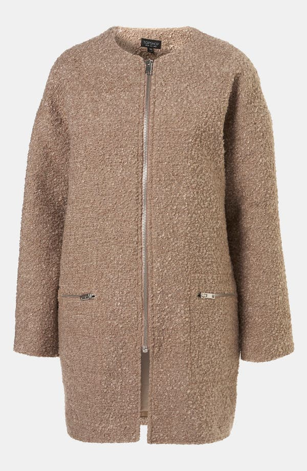 Main Image - Topshop Structured Bouclé Coat