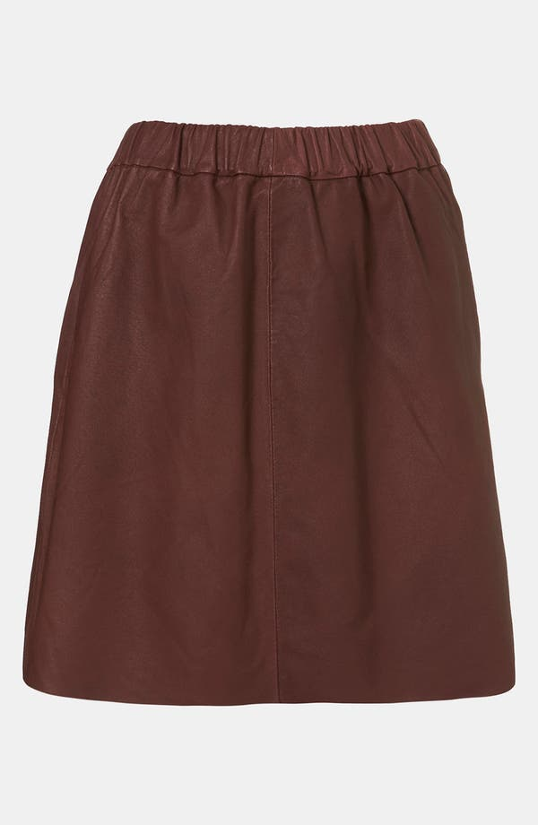 Main Image - Topshop Boutique Leather Skirt