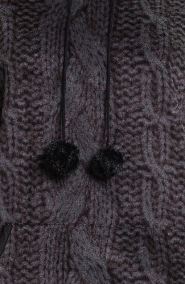 Alternate Image 3  - Kensie Hooded Sweatshirt Poncho