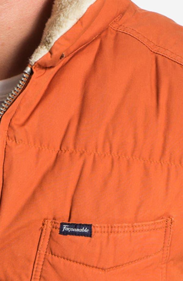 Alternate Image 3  - Façonnable 'Cire' Club Fit Down & Feather Vest with Faux Fur Trim