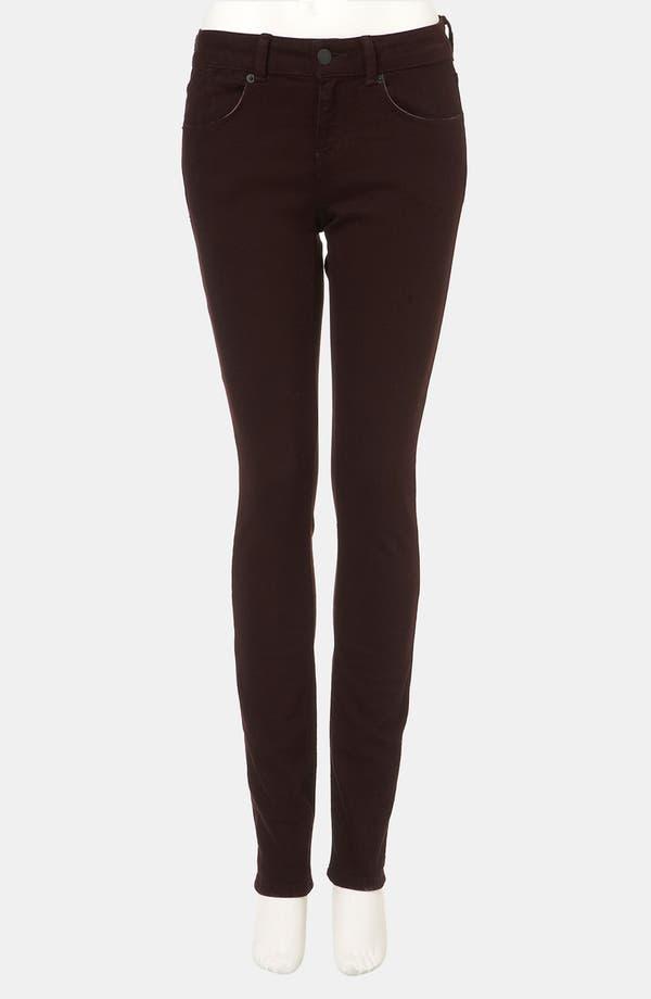 Alternate Image 1 Selected - Topshop Moto 'Baxter' Skinny Jeans (Burgundy)