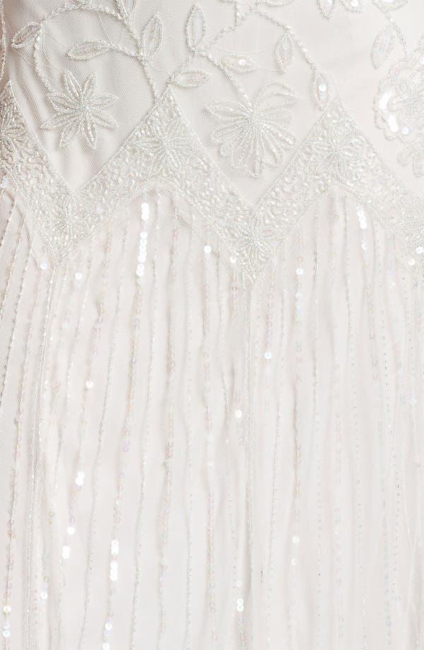 Alternate Image 3  - Pisarro Nights V-Neck Bead & Sequin Mesh Gown