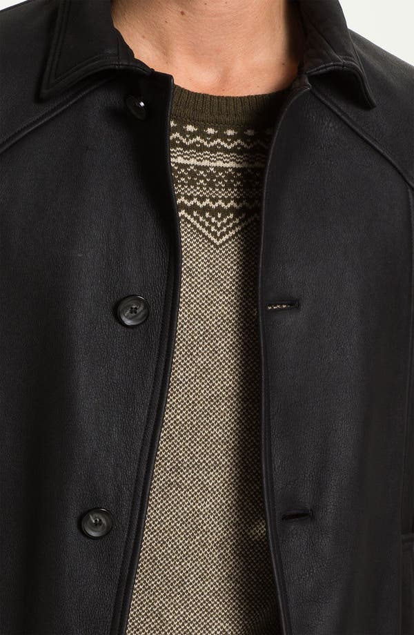 Alternate Image 3  - Alex & Co. Single Breasted Leather Coat with Genuine Shearling Lining