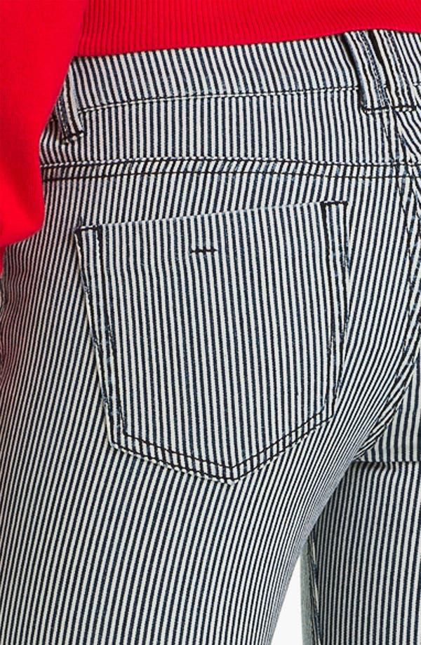 Alternate Image 3  - Fire Stripe Skinny Jeans (Juniors)