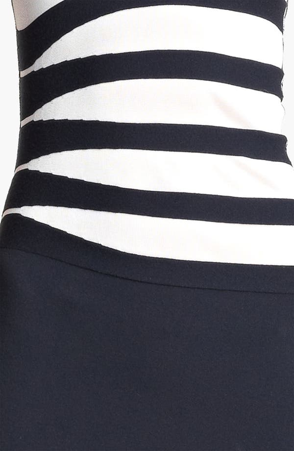 Alternate Image 3  - Armani Collezioni Asymmetrical Stripe Dress