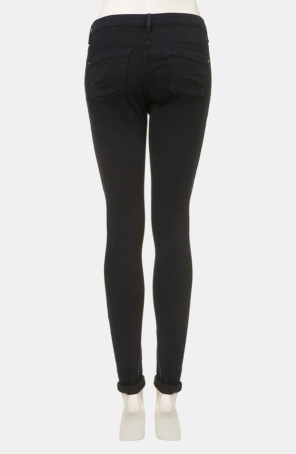 Alternate Image 2  - Topshop Moto 'Leigh' Skinny Jeans (Blue Black)