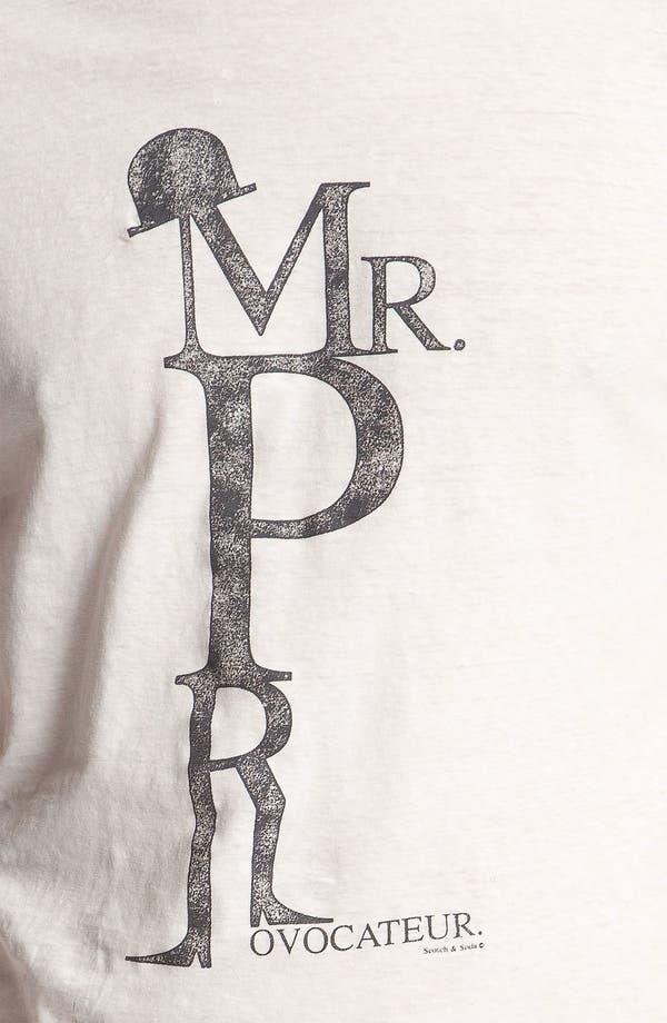 Alternate Image 3  - Scotch & Soda 'Monsieur Provocateur' Graphic Cotton & Linen T-Shirt
