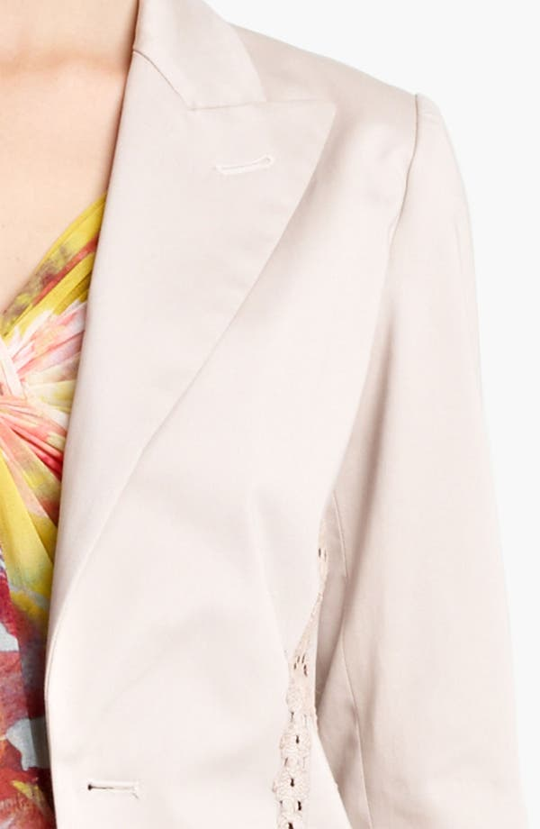 Alternate Image 3  - Jean Paul Gaultier Lace Detail Stretch Gabardine Blazer