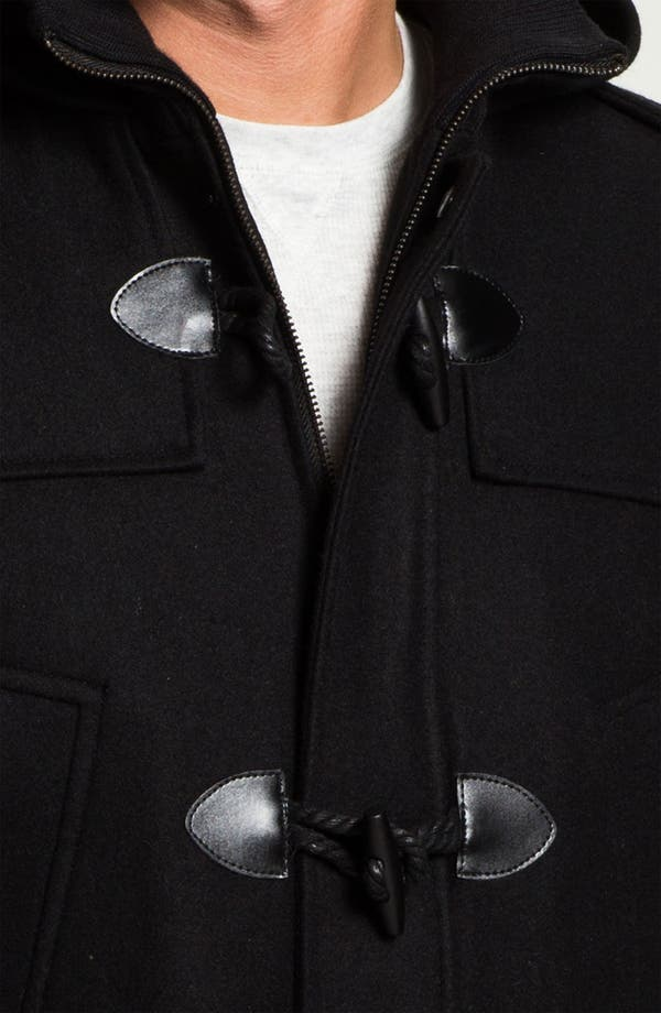 Alternate Image 3  - Black Rivet Wool Blend Trench Coat