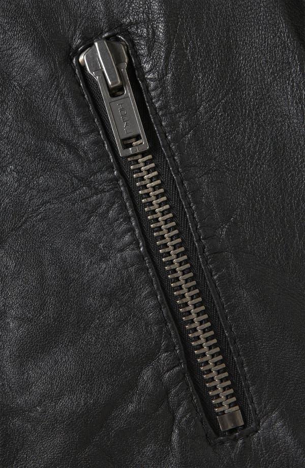 Alternate Image 3  - Topshop 'Winston' Leather Biker Jacket