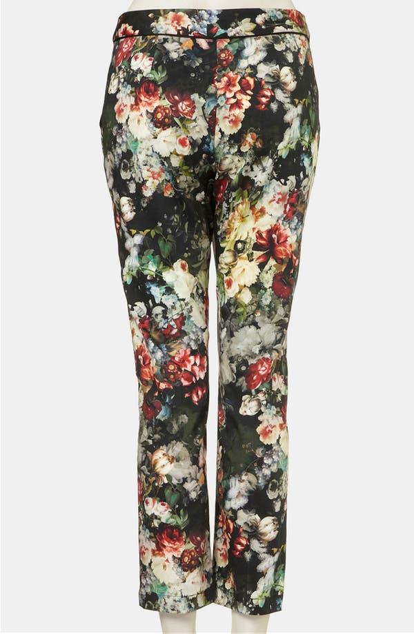 Alternate Image 2  - Topshop 'Winter Floral' Print Crop Cigarette Pants