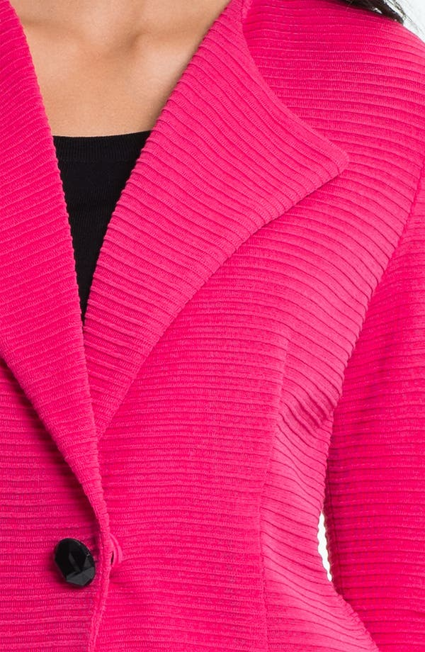 Alternate Image 3  - Exclusively Misook Ribbed Blazer