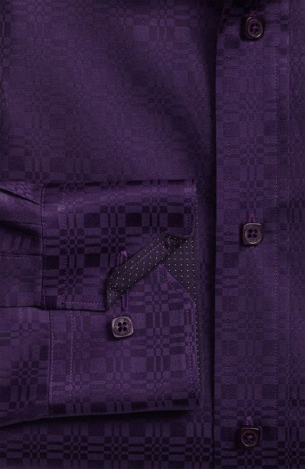 Alternate Image 5  - Bugatchi Uomo Shaped Fit Sport Shirt