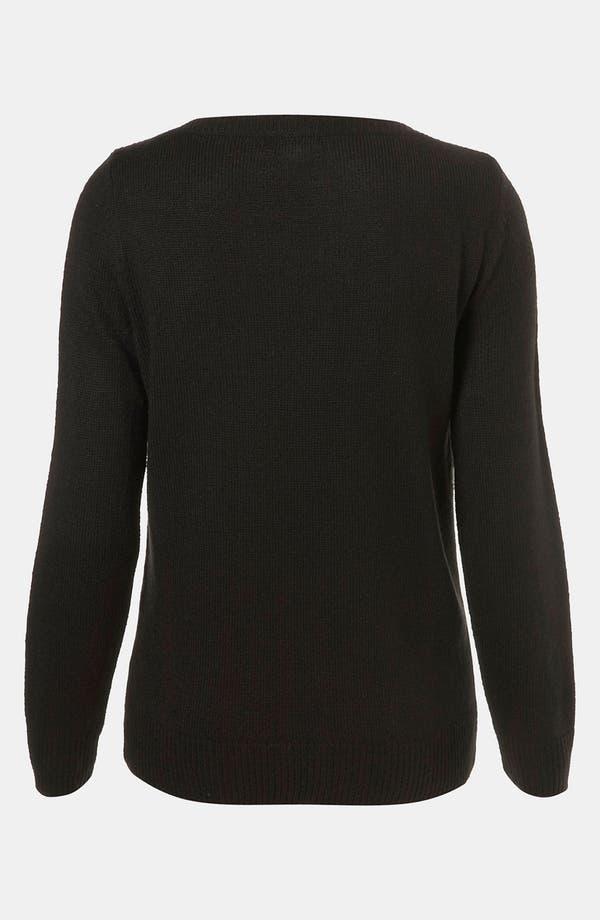 Alternate Image 2  - Topshop 'Mirrored Zebras' Sweater
