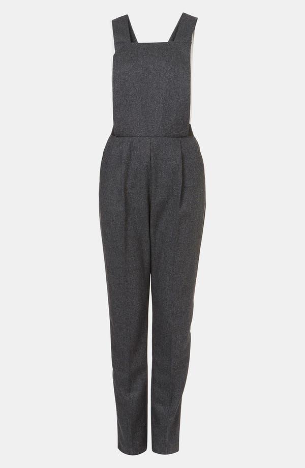 Main Image - Topshop 'Amber' Tweed Jumpsuit