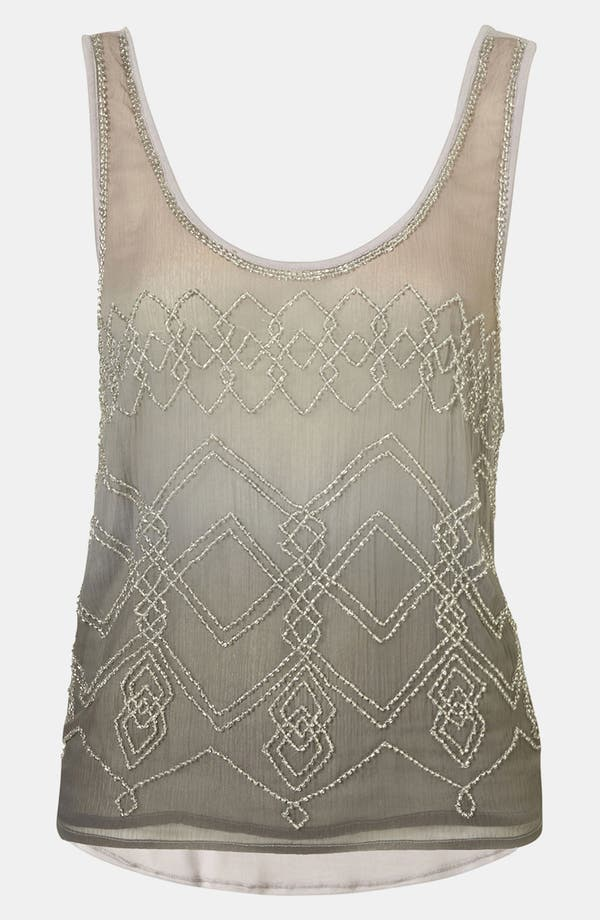 Alternate Image 1 Selected - Topshop Beaded Ombré Tank