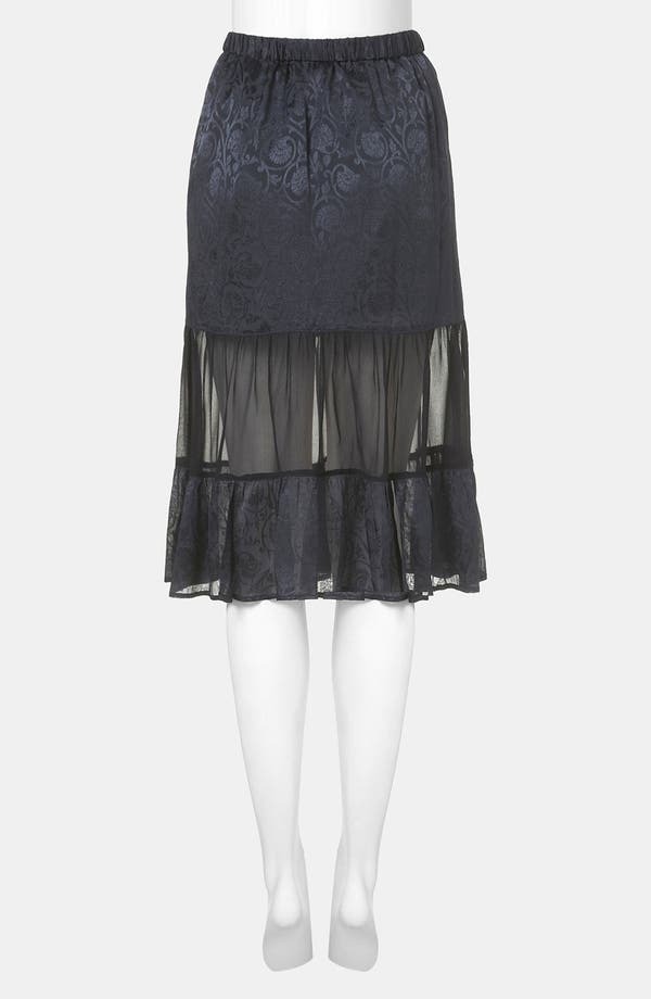 Alternate Image 2  - Topshop Jacquard Tiered Midi Skirt