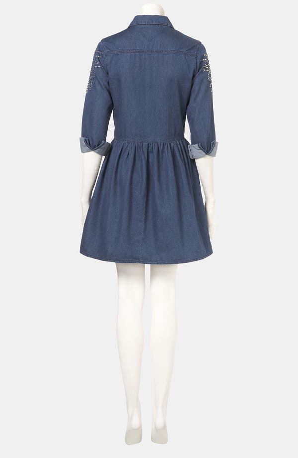 Alternate Image 2  - Topshop Studded Denim Shirtdress