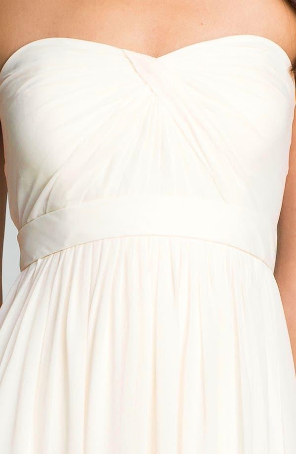 Alternate Image 3  - Jenny Yoo 'Monarch' Sweetheart Neckline Layered Chiffon Gown