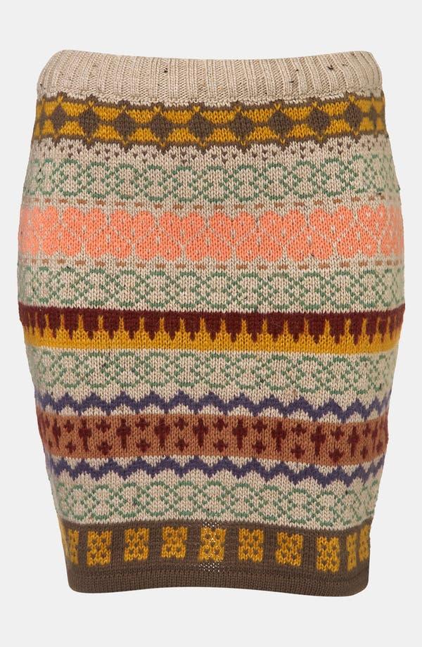 Main Image - Topshop Nordic Knit Sweater Skirt