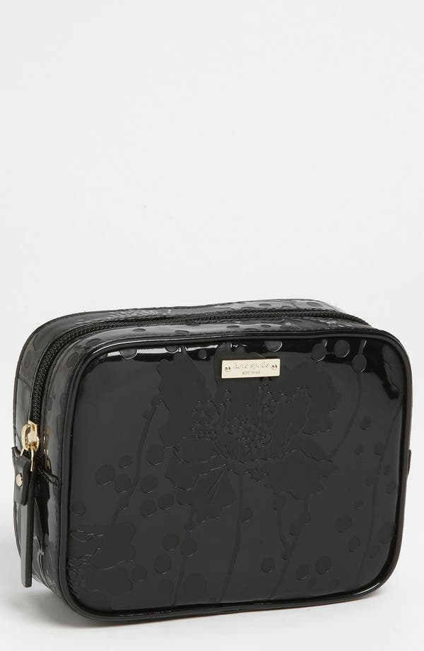 Main Image - kate spade new york 'spotted flora - di' cosmetics case