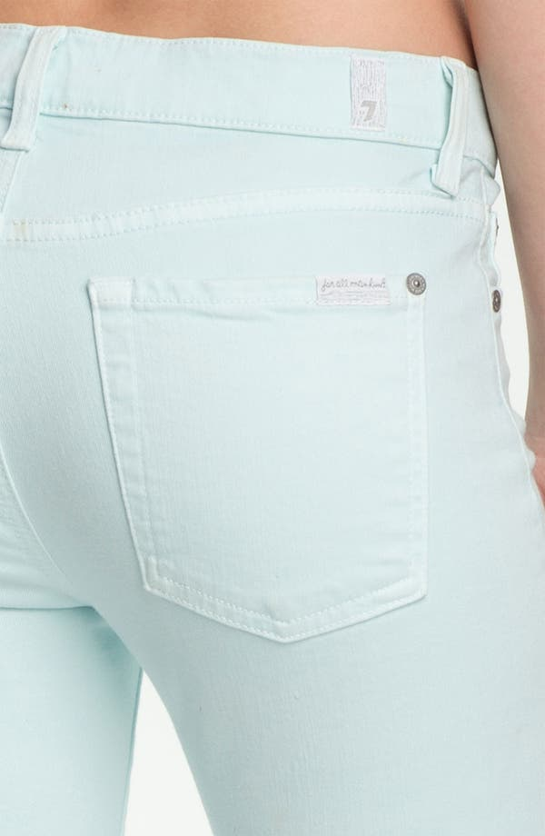 Alternate Image 3  - 7 For All Mankind® 'Slim Illusion' Overdyed Skinny Stretch Jeans (Sea Glass)