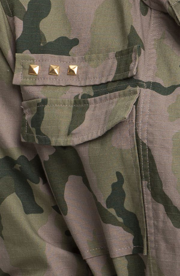 Alternate Image 3  - Fire Studded Camo Army Jacket (Juniors)