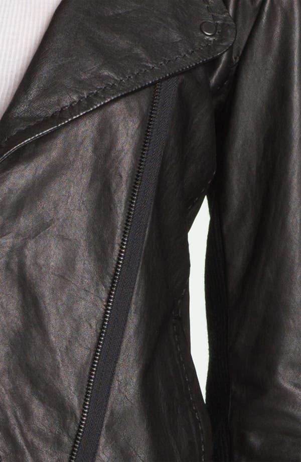 Alternate Image 3  - Vince Asymmetrical Zip Leather Jacket