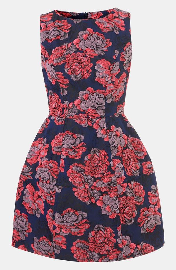 Alternate Image 1 Selected - Topshop 'Champion' Floral Jacquard Dress