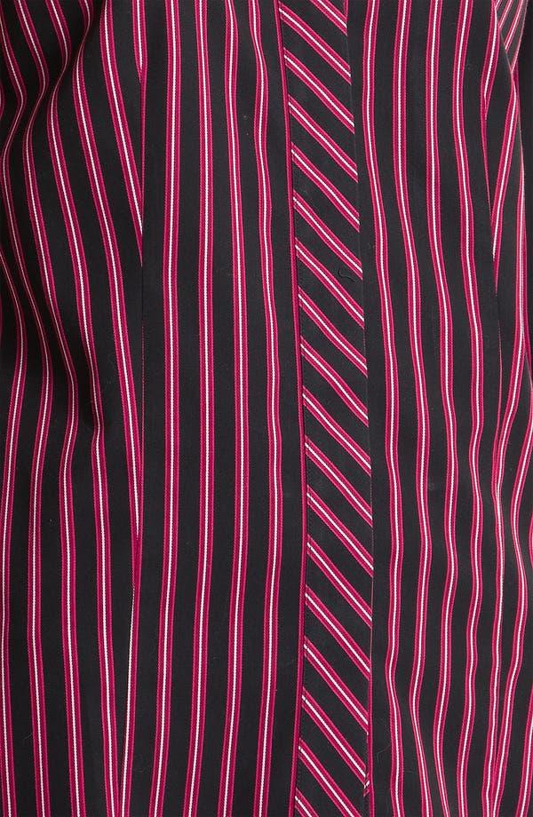 Alternate Image 3  - Foxcroft Satin Stripe Shirt (Petite)